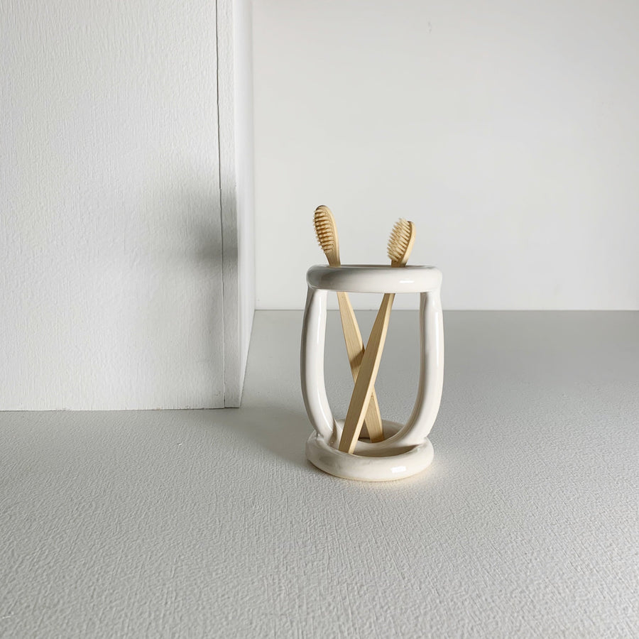 Buoy Toothbrush Holder/ White