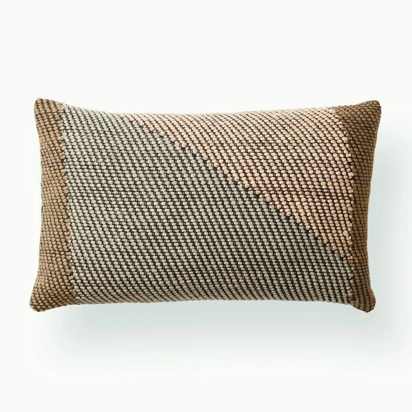 Handwoven Angle Lumbar Pillow / Coffee