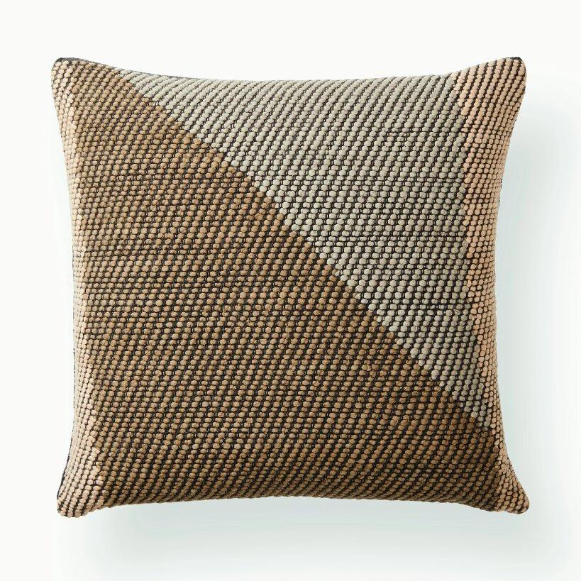 Handwoven Angle Pillow / Coffee