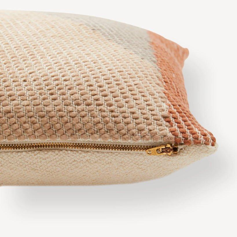 Handwoven Angle Pillow / Terracotta