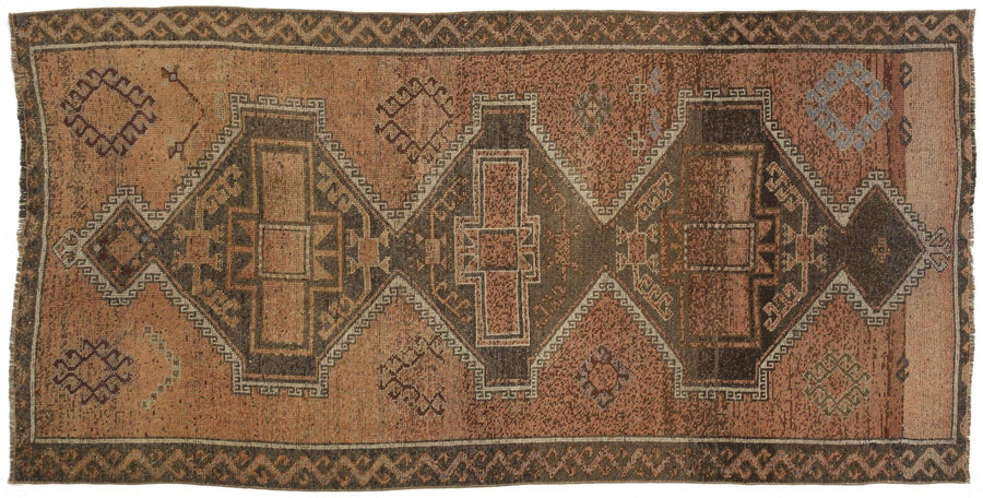 "5'1"" x 10'3"" Vintage Turkish Rug/ Remko"