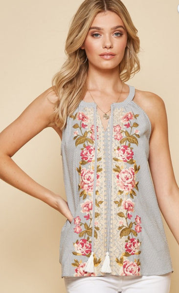 Lizzzy Embroidered Tank
