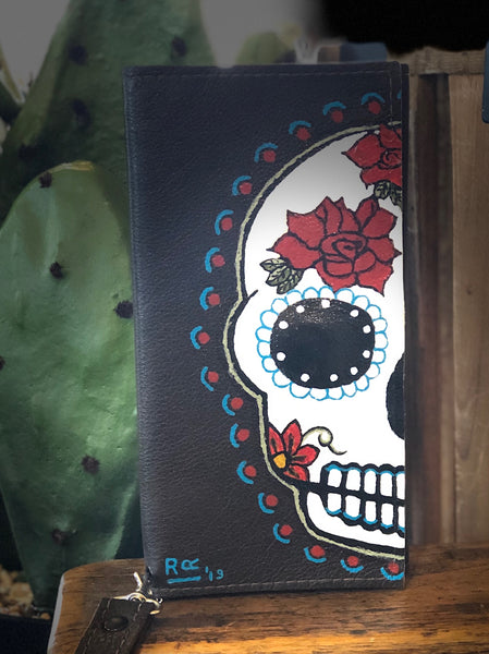 Hand Painted Leather Wallets