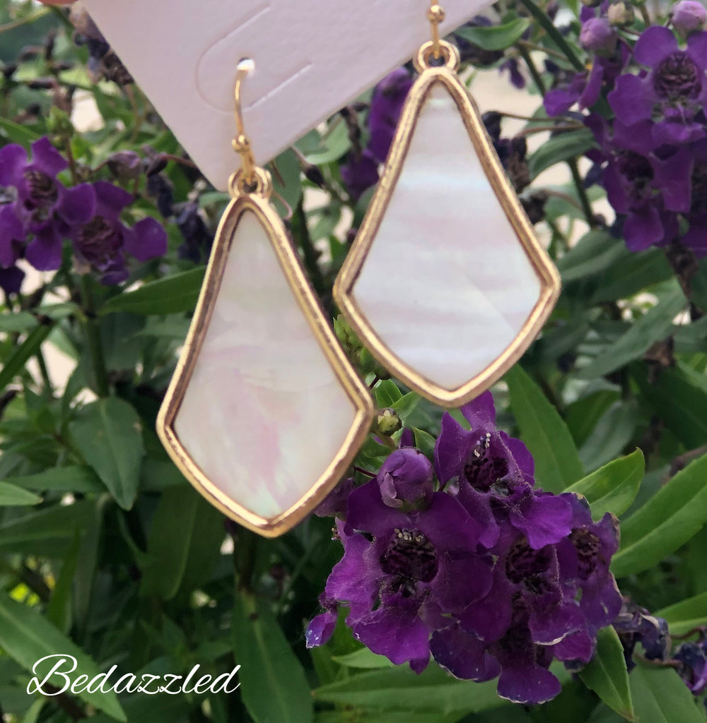 Ivory Marble Earrings