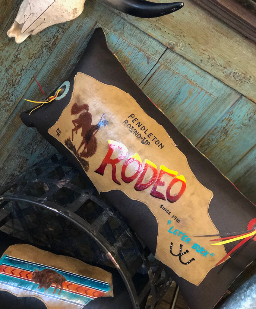 Rodeo Handpainted Pillow