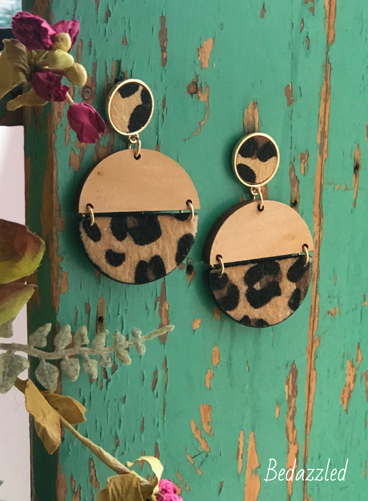 Leopard Flip Earrings