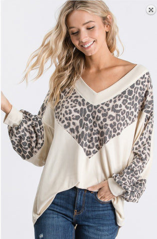 Ivy Leopard Tunic Top