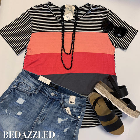 Lola Color Block Top