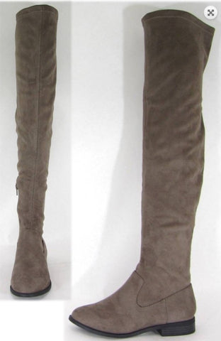 Taupe Over The Knee Kenslee Boots