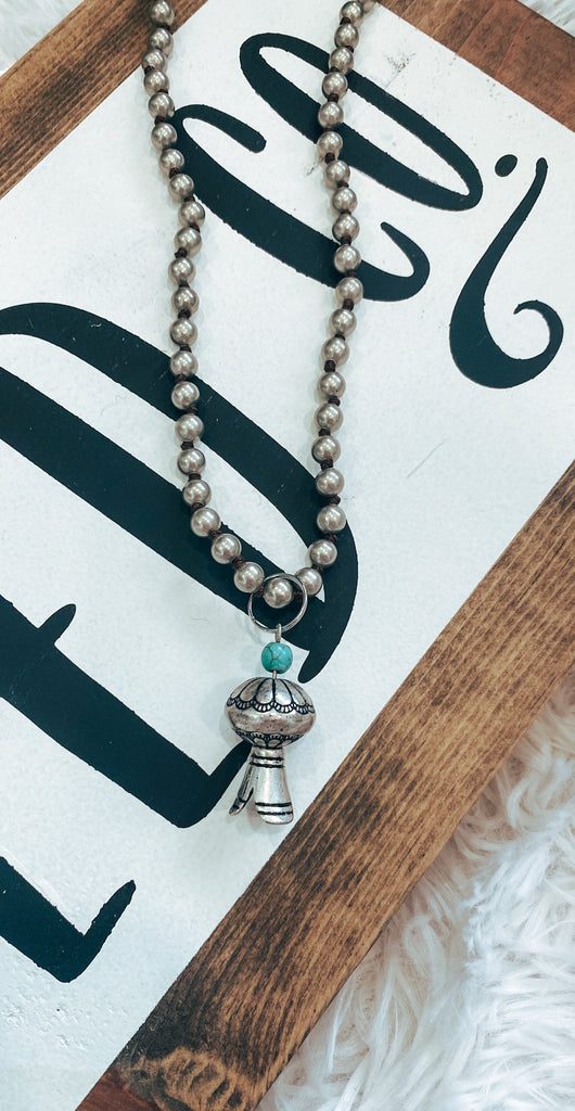 Nadia Turquoise & Silver Necklace