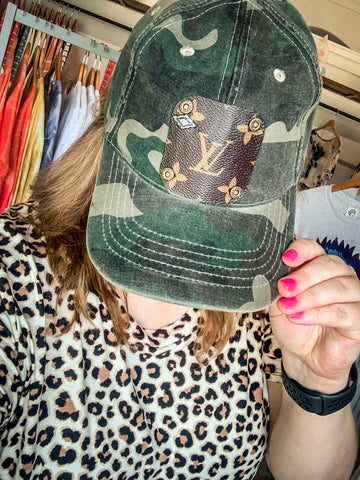 LV Patch Hat Camo w/Detail Vintage