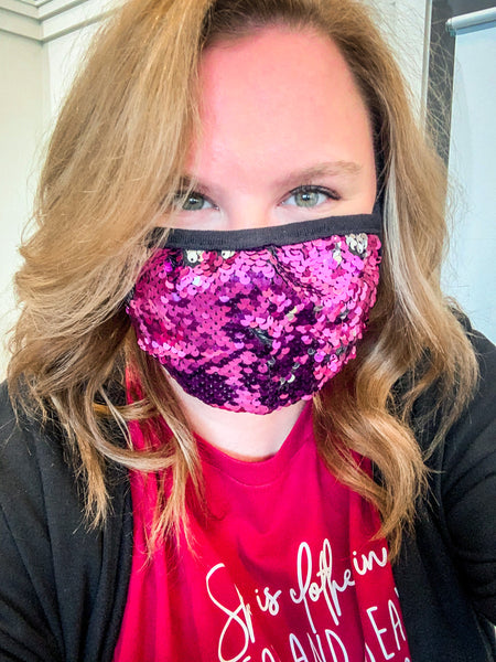 Flip Bead Sequin Mask