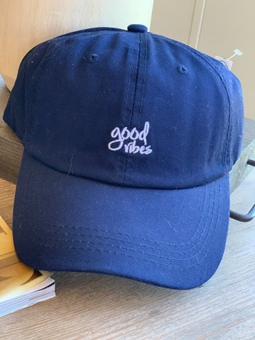 Navy Good Vibes Hat