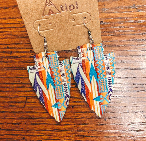 Arrow Head Aztec Earrings
