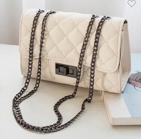Kennedy White Shoulder Bag