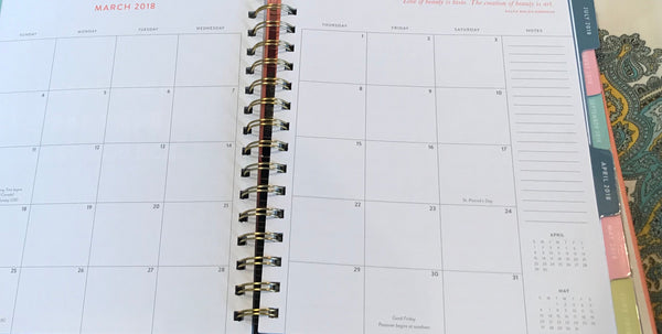 Spiral Hard Cover 2018 weekly planner