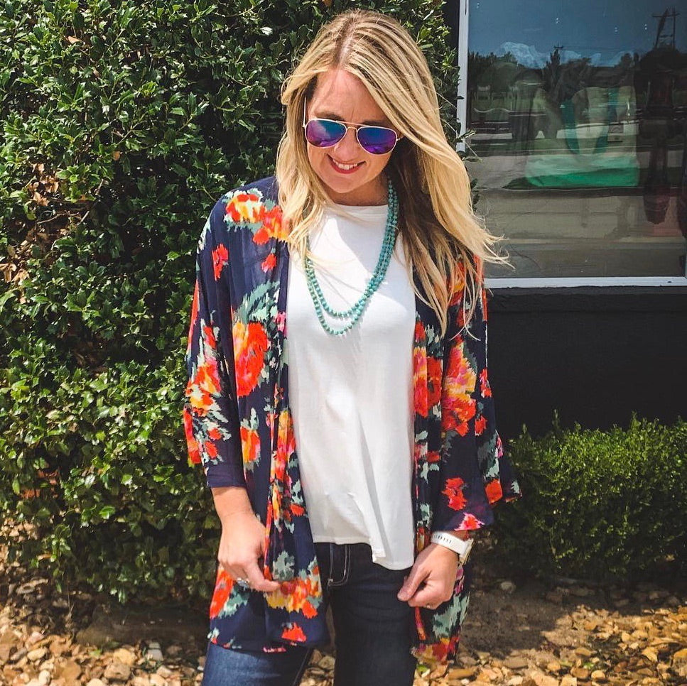 Light in the Dark Floral kimono