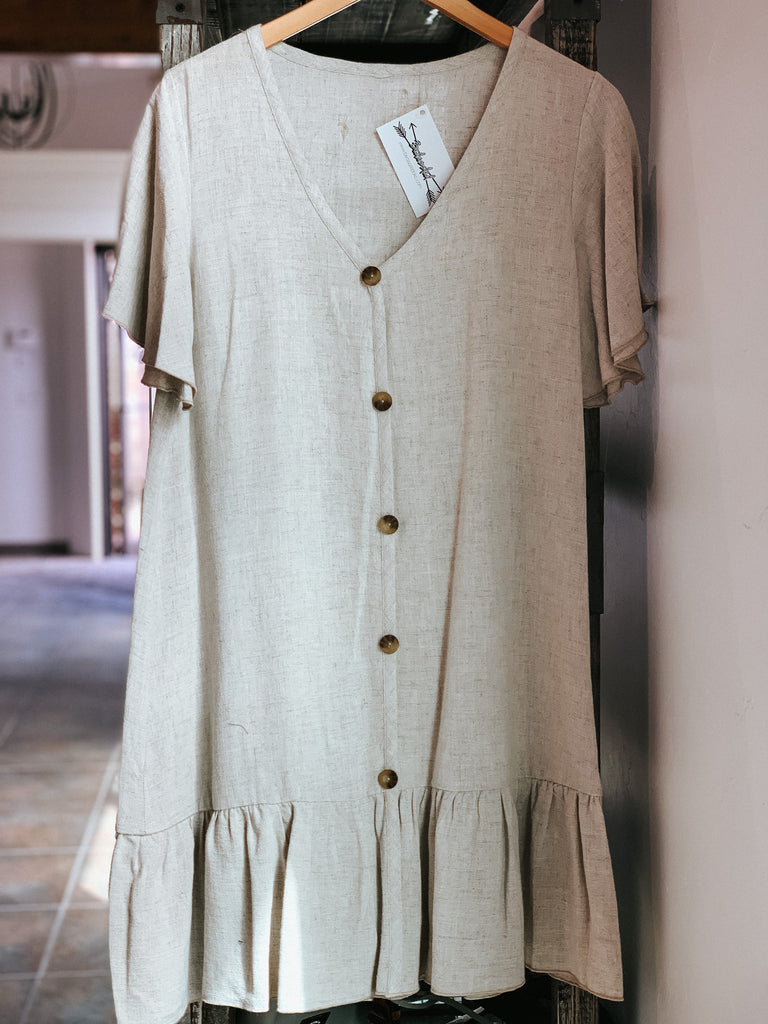 Fly Away Taupe Dress