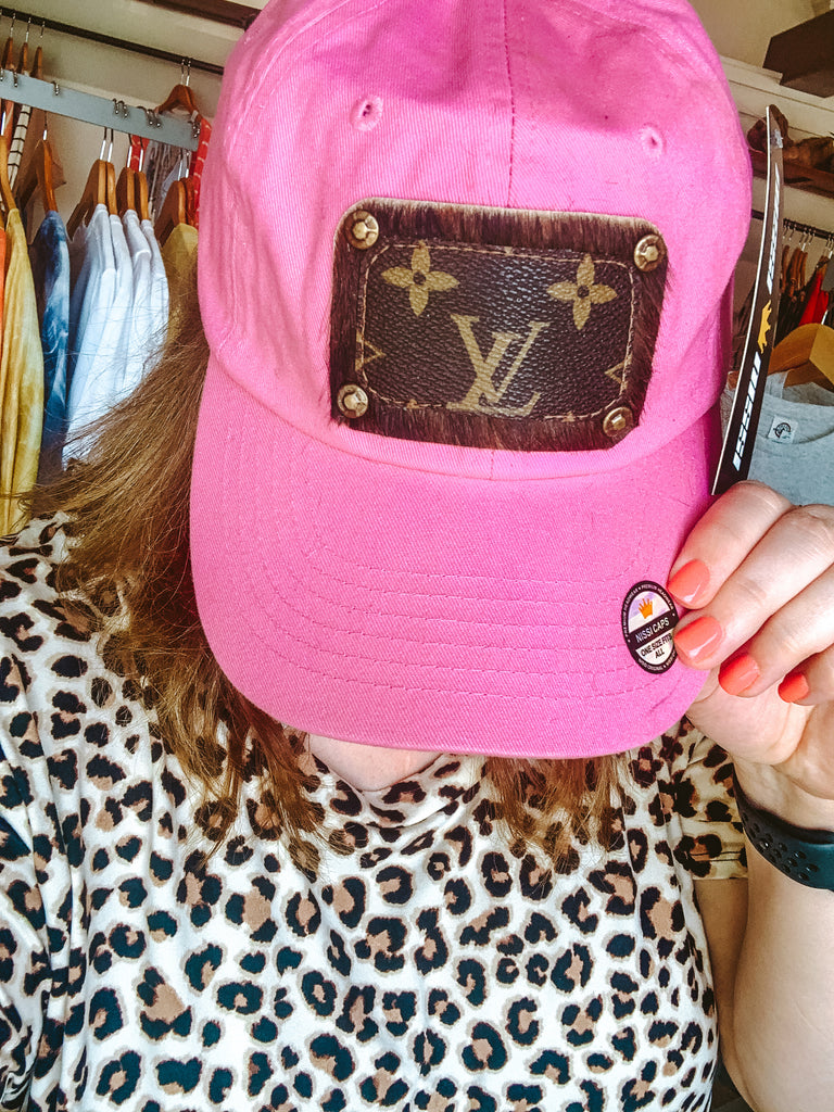 LV Patch Hat Hot Pink