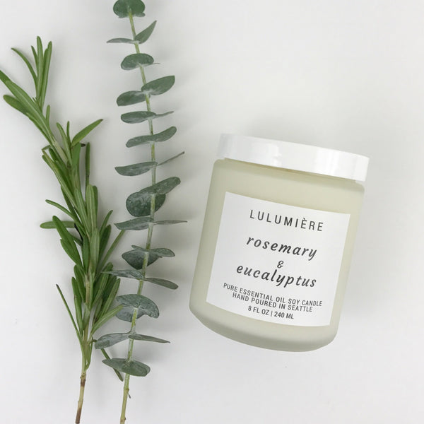 Rosemary & Eucalyptus 100% Essential Oil Candle