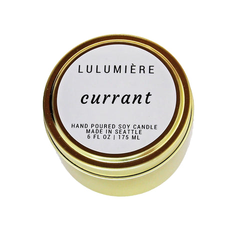 Currant Signature Gold Tin
