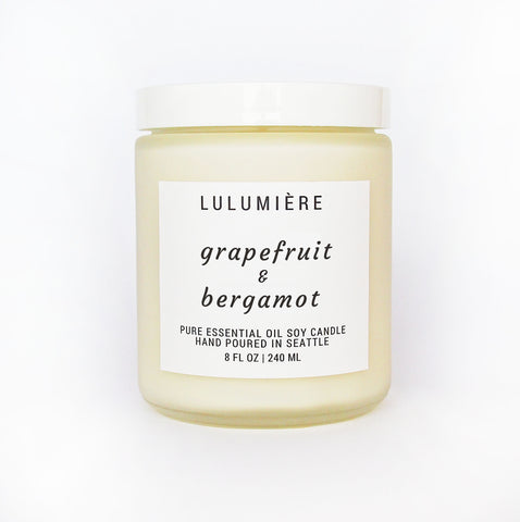 Grapefruit & Bergamot 100% Essential Oil Candle