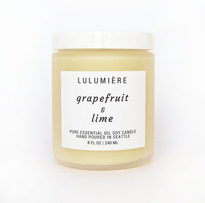 Grapefruit & Lime 100% Essential Oil Candle