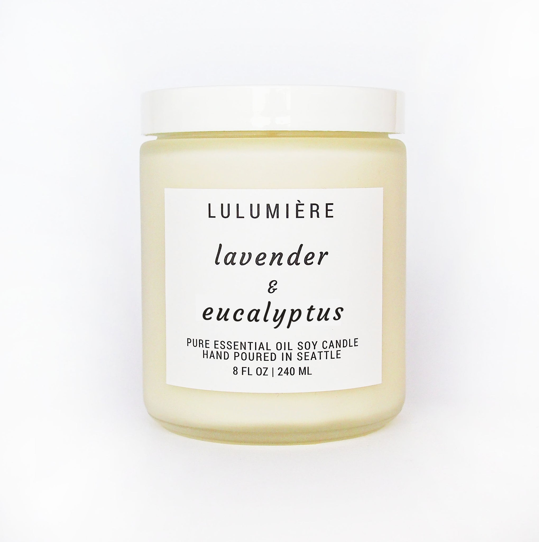 Essential Oil Lavender Eucalyptus Candle