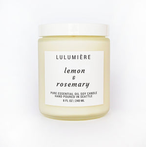 Lemon & Rosemary 100% Essential Oil Candle