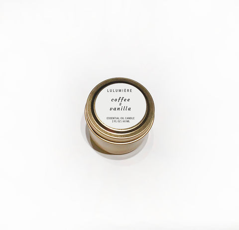 Coffee & Vanilla Mini 100% Essential Oil Candle