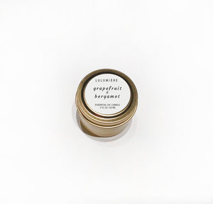 Grapefruit & Bergamot Mini 100% Essential Oil Candle