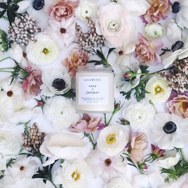 Lulumiere Rose Juniper Essential Oil Candle