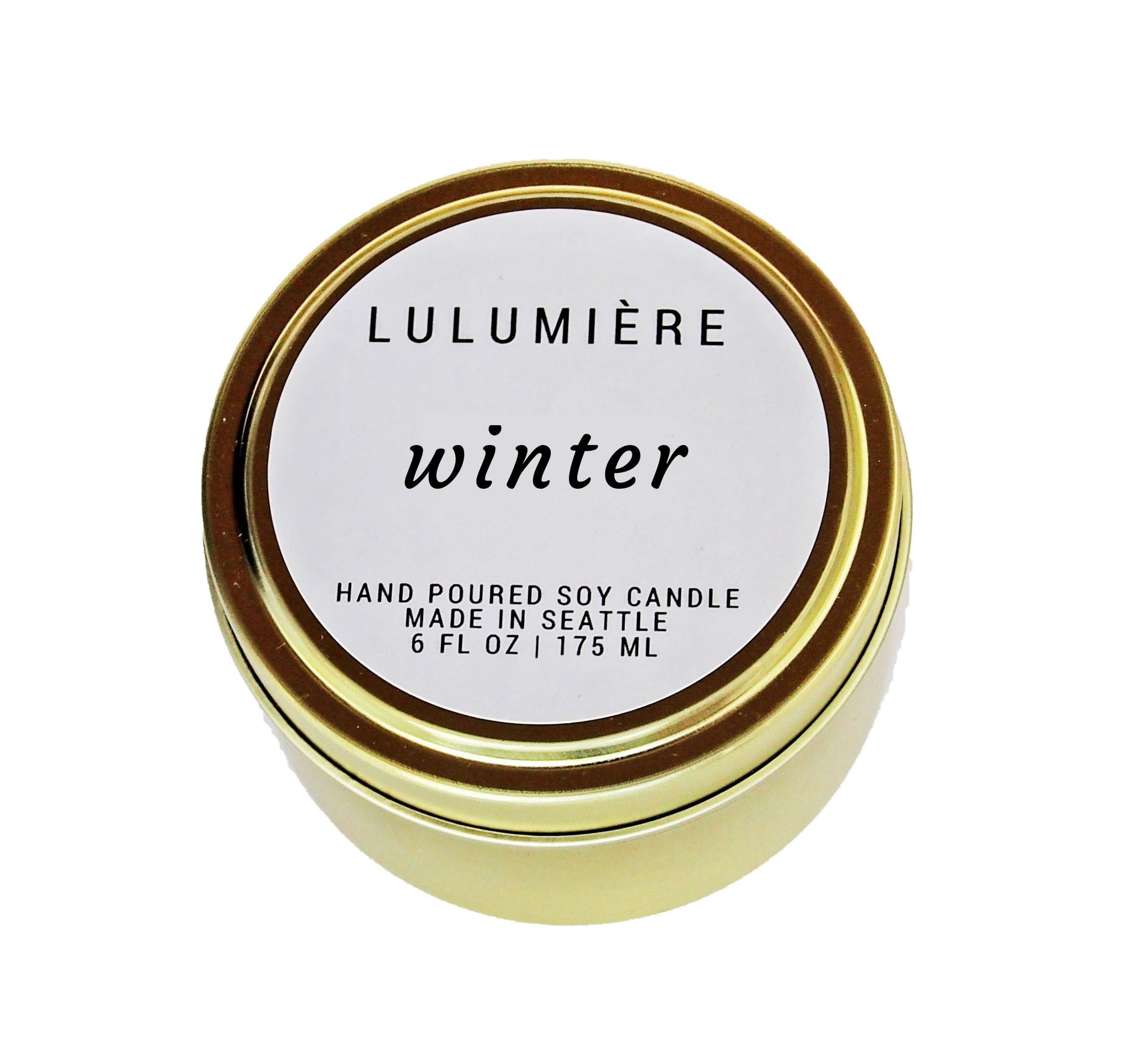 Winter Signature Gold Tin