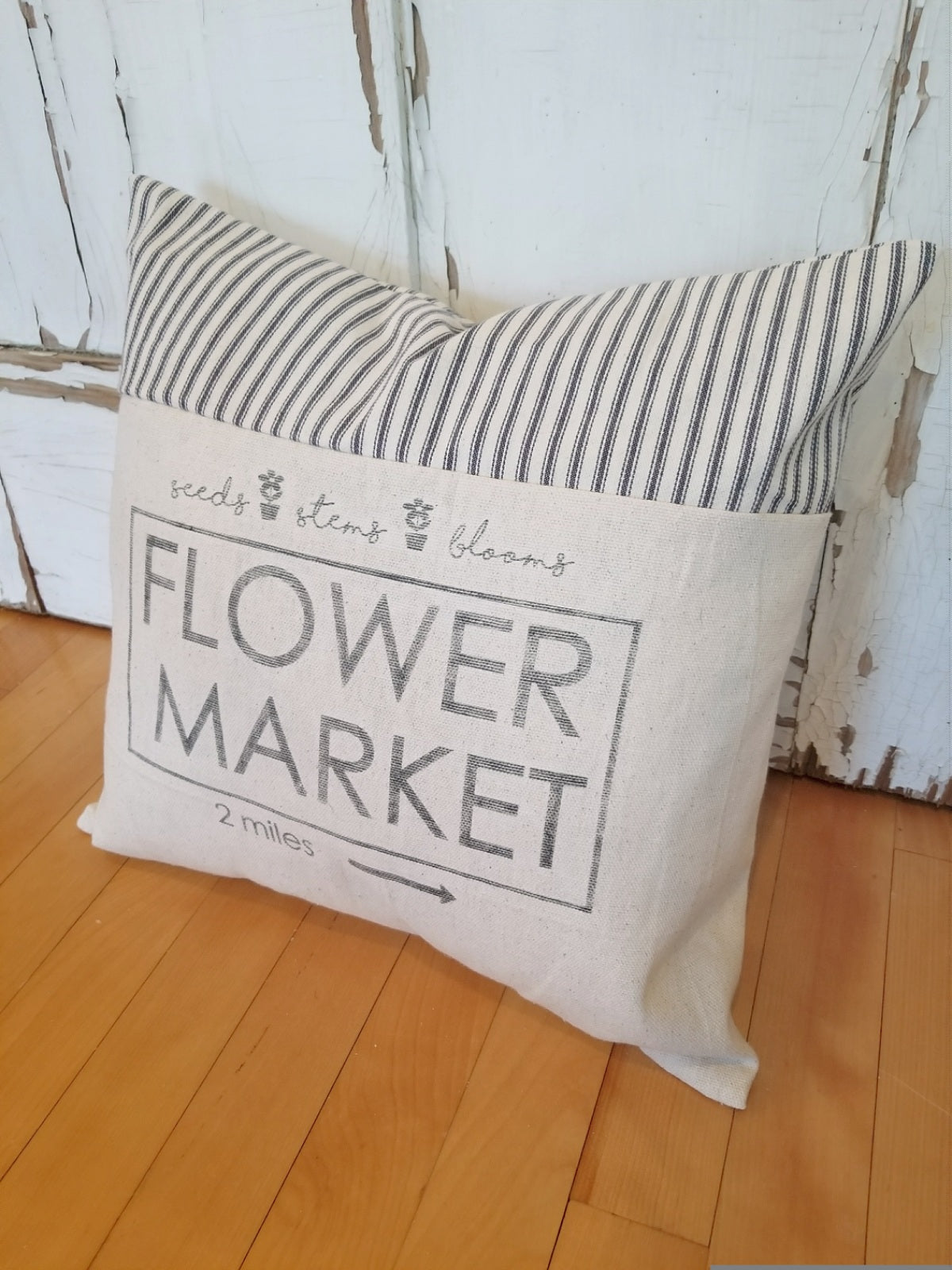 Flower Market Pillow Cover