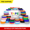 Image of Buildr TAPE™ - Peel 'n Stick Building Block Tape Fun Packs