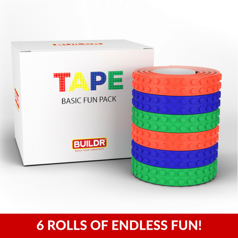 Buildr TAPE™ - Peel 'n Stick Building Block Tape Fun Packs