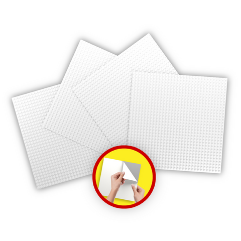 Buildr PLATES™ - 10x10 Flexible, Cuttable, & Reusable Peel 'n Stick Building Block Base Plates