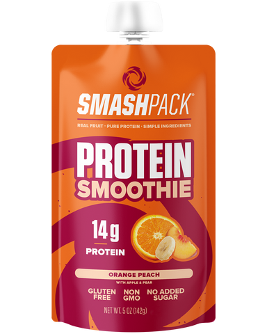 Orange Peach Protein Smoothie