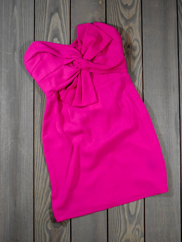 Strapless Pink Bow Dress