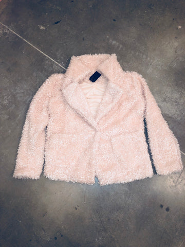 Warm Me Up Teddy Coat - Blush