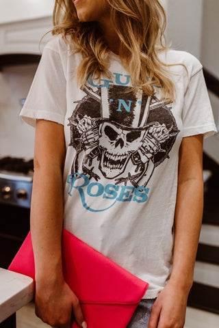 Guns N Roses Skull Graphic Tee