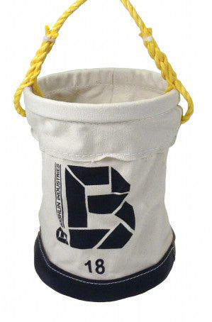 Bashlin - Canvas Bucket w/ Inside Pocket & 8'' Bottom
