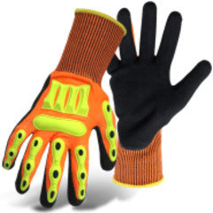 1CF7006FTPR-L Boss® Barbarian™ Nitrile Palm with Knit Wrist