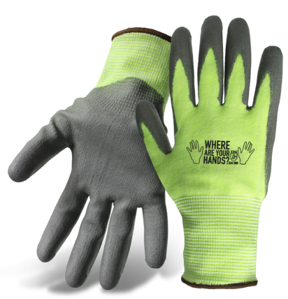 Boss® Hand Awareness Hi-Vis ANSI Cut Level 3