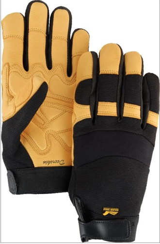 2150DP/10 LG Gold Deerskin Double Palm Glove