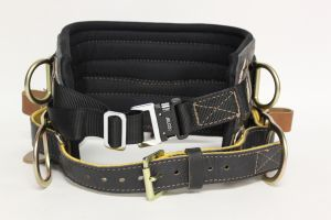 Jelco - Black Leather/Air Knit Lineman Belt