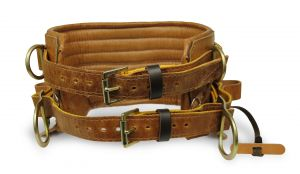 Jelco - Caramel 4 D-Ring  Lineman Belt W/ Tongue Buckles