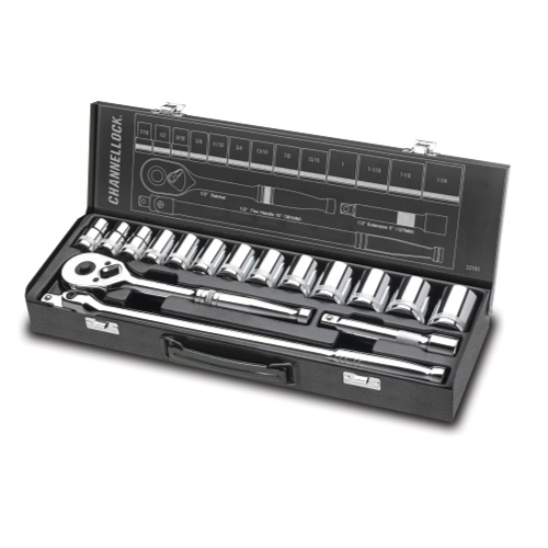 Channellock - 16pc 1/2 Drive Socket Set