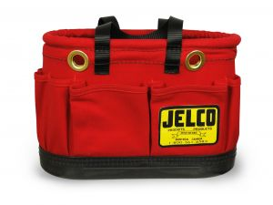 "Jelco - Oval '' Red '' Bucket w/ Magnet 14"" x 8"" x 10"""