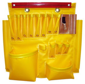 Warren Heim - Tool Apron Yellow Vinyl w/ 18 Pockets & Magnetic Strip